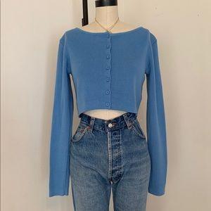 Brandy Melville NWT blue athelia crop cardigan